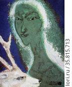 Spirit of the forest by naundo nakamura; twentieth century, japanese artist. Редакционное фото, агентство World History Archive / Фотобанк Лори