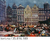 The Grand Place, Brussels. Редакционное фото, агентство World History Archive / Фотобанк Лори