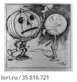 Halloween and the Minnesota snowball by Charles Lewis Bartholomew. Редакционное фото, агентство World History Archive / Фотобанк Лори