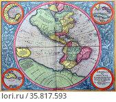 The Americas, from the Mercator Atlas. Редакционное фото, агентство World History Archive / Фотобанк Лори