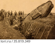 Photograph from the Battle of Cambria, 1917. A British campaign during the First World War. Редакционное фото, агентство World History Archive / Фотобанк Лори