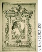 Portrait of the Author from Fernando de Goes Laurerio, Vidas y Hechos de los Reyes de Portugal. Редакционное фото, агентство World History Archive / Фотобанк Лори