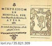 Final Pages from Francisco Rodriguez Lobo, Corte en Aldea. Редакционное фото, агентство World History Archive / Фотобанк Лори