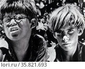 Lord of the Flies is a 1963 British film adaptation of William Golding's novel of the same name. It was directed by Peter Brook and produced by Lewis M. Allen. The film was in production for much of 1961 though the film was not released until 1963. Редакционное фото, агентство World History Archive / Фотобанк Лори