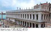 St Marks Square in the Piazza San Marco. Редакционное фото, агентство World History Archive / Фотобанк Лори