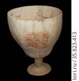 Lotus Chalice 18th Dynasty B.C. Редакционное фото, агентство World History Archive / Фотобанк Лори