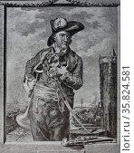Nicolas Jarry (1735 - 1783) Dutch Pirate born in Nantes. Редакционное фото, агентство World History Archive / Фотобанк Лори