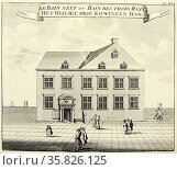 The Bath of the Three Kings, Aachen, the famous spa town, known to the romans as Aquisgranum. From ''Amusemens des eaux d'Aix-la-Chapelle'', Amsterdam, 1736. . Редакционное фото, агентство World History Archive / Фотобанк Лори
