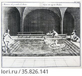 Patients in the plunge bath. Aachen (Aix), the famous spa town, known to the Romans as Aquisgranum. . Редакционное фото, агентство World History Archive / Фотобанк Лори