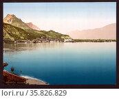Maderno, Lake Garda, Italy between 1890 and 1900. Редакционное фото, агентство World History Archive / Фотобанк Лори