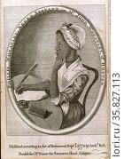 Phillis Wheatley, Negro servant to Mr. John Wheatley, of Boston portrait by Scipio Moorhead. Редакционное фото, агентство World History Archive / Фотобанк Лори