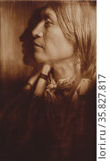 Vash Gon--Jicarilla 1904, By Edward Curtis, 1868-1952, Редакционное фото, агентство World History Archive / Фотобанк Лори