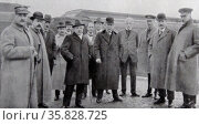 Meeting between British Prime Minister Lloyd George and The Italian Premier Mr Orlando. Редакционное фото, агентство World History Archive / Фотобанк Лори