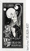 Bookplate of Edgar Rice Burroughs 1875-1950, Редакционное фото, агентство World History Archive / Фотобанк Лори
