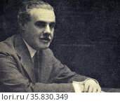 Don Rafael Benjumea y Burin, Count of Guadalhorce, Minister of Public Works. Редакционное фото, агентство World History Archive / Фотобанк Лори