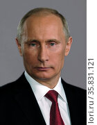 Vladimir Putin (born 1951). President of Russia since 7 May 2012. He previously served as President from 2000 to 2008, and as Prime Minister of Russia from 1999 to 2000 and again from 2008 to 2012. Wikipedia. Редакционное фото, агентство World History Archive / Фотобанк Лори