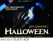 Halloween is an American 1978 horror film starring Donald Pleasance, Jamie Lee Curtis Tony Moran and Nancy Keyes. Редакционное фото, агентство World History Archive / Фотобанк Лори