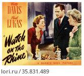 Watch on the Rhine' starring Bette Davis and Paul Lukas a 1943 American drama film. Редакционное фото, агентство World History Archive / Фотобанк Лори