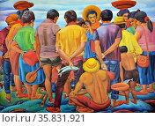 Vicente V. Reyes, Monday Morning, 1994, Oil on Canvas. Редакционное фото, агентство World History Archive / Фотобанк Лори
