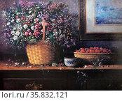 Roland Dellos Santos, Still Life with Strawberries 1995. Oil on canvas. Редакционное фото, агентство World History Archive / Фотобанк Лори