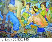 Pat Reyes, Vigan Vendors, 1993. Oil on canvas. Редакционное фото, агентство World History Archive / Фотобанк Лори