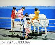 Abroad the MV Sta. Ana by Ernesto Verroya. Редакционное фото, агентство World History Archive / Фотобанк Лори