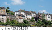 Houses of Aubusson in the Creuse, Limousin, France. Стоковое фото, фотограф Zoonar.com/Emmanuelle BONZAMI / age Fotostock / Фотобанк Лори