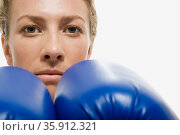 Female boxer. Стоковое фото, фотограф Shannon Fagan / Ingram Publishing / Фотобанк Лори