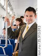 Businessman commuting. Стоковое фото, фотограф Shannon Fagan / Ingram Publishing / Фотобанк Лори