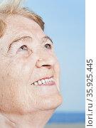 Smiling senior woman. Стоковое фото, фотограф Shannon Fagan / Ingram Publishing / Фотобанк Лори