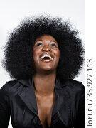 Portrait of mid adult African American woman. Стоковое фото, фотограф Shannon Fagan / Ingram Publishing / Фотобанк Лори