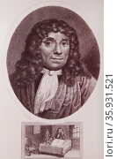 Anton van Leeuwenhoek — 1632-1723. Редакционное фото, агентство World History Archive / Фотобанк Лори