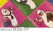 lsd in a colourful dancing condom blotter. Редакционное фото, агентство World History Archive / Фотобанк Лори