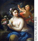 Allegory of Spring, c.1760 (oil on canvas) by Andrea Casali, (1705-84) Редакционное фото, агентство World History Archive / Фотобанк Лори