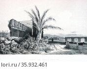 Ruins of the church of San Domingo a Concepcion. Chile 1838. Редакционное фото, агентство World History Archive / Фотобанк Лори