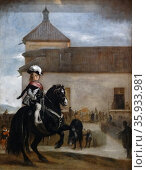 Painting titled 'Prince Baltasar Carlos in the Riding School' by Diego Velázquez. Редакционное фото, агентство World History Archive / Фотобанк Лори