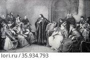 John Huss before the council of Constance. Редакционное фото, агентство World History Archive / Фотобанк Лори