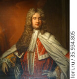 Portrait of Henry Bowes Howard, 11th Earl of Suffolk and 4th Earl of Berkshire by an unknown artist. Редакционное фото, агентство World History Archive / Фотобанк Лори