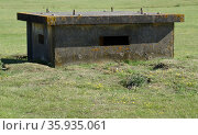 A disused bunker at RAF Upper Heyford, a Royal Air Force station. Редакционное фото, агентство World History Archive / Фотобанк Лори