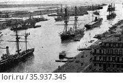 Photographic print of Port Said at the Mediterranean entrance of the Suez Canal. Редакционное фото, агентство World History Archive / Фотобанк Лори
