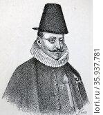 Luis de Velasco; Marqués de Salinas (c. 1534 – 1617); Spanish nobleman. Редакционное фото, агентство World History Archive / Фотобанк Лори