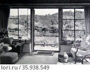 Photograph of an ideal sun lounge with a south-south west aspect. Редакционное фото, агентство World History Archive / Фотобанк Лори