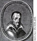 Engraved portrait of Fausto Paolo Sozzini. Редакционное фото, агентство World History Archive / Фотобанк Лори