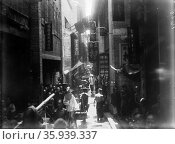 Photograph of Guangzhou Tang Lang Street by William Henry Jackson. Редакционное фото, агентство World History Archive / Фотобанк Лори