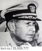 Admiral Raymond Spruance. Редакционное фото, агентство World History Archive / Фотобанк Лори
