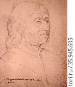 Philippe de Commines (or de Commynes or 'Philippe de Comines'; 1447 – 18 October 1511) was a writer and diplomat. Редакционное фото, агентство World History Archive / Фотобанк Лори