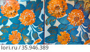 Marigold ceramic tile, from the Casa Vicens in Barcelona, Spain (2016 год). Редакционное фото, агентство World History Archive / Фотобанк Лори