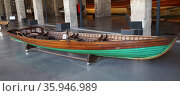 light offshore coastal 'Clinker' type fishing boat; Catalan; Spain 1950 (2016 год). Редакционное фото, агентство World History Archive / Фотобанк Лори