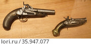 18th century, pistols, deployed to defend the Spanish coast from North African Pirates. (2016 год). Редакционное фото, агентство World History Archive / Фотобанк Лори
