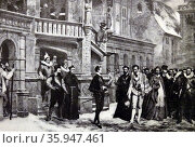 Print of 'Étienne Marcel' by Lucien Stephen Mélingue (2013 год). Редакционное фото, агентство World History Archive / Фотобанк Лори